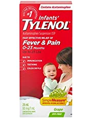 Tylenol Peds Tylenol Infants Acetaminophen Suspension Concentrated Drops, Dye-free Grape, 24 ml 24 milliliter