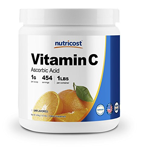 Nutricost Pure Ascorbic Acid Powder (Vitamin C) 1LB