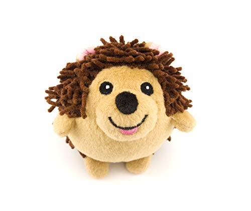 Ball Hedgehog (Dizzy Hedgehog Dog Toy with Rubber Squeaky Ball Inside and No Stuffing)