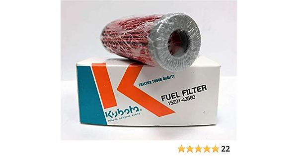 2x 15231-43560 Fuel Filter for Kubota Tractors B1700 B1700HSD B1750 B1750HST B20