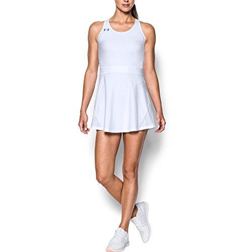 (Under Armour UA Tennis Center Court Dress LG White)