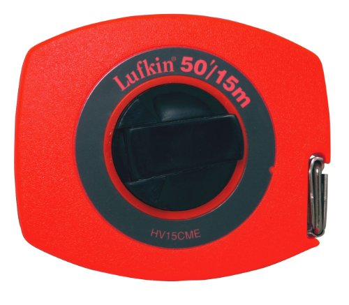 Lufkin HV15CME 10mm 3/8 x 15m 50-Foot Hi-Viz Universal Lightweight Long Steel Tape ()