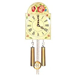 Original Eight Day Movement Special Cuckoo Clock with Beautiful Flowers 9 Inch