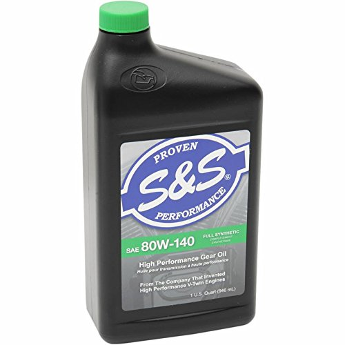 S&S Cycle High Performance Synthetic Big Twin Gear Oil - SAE 80W-140 - 1 Qt. 153756