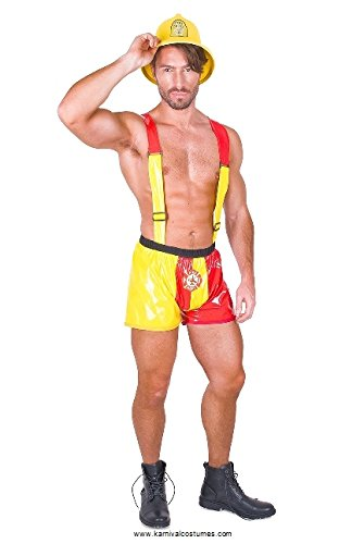 Hot Stuff Fireman Costume - for Halloween, Costume Party Accessory - Medium