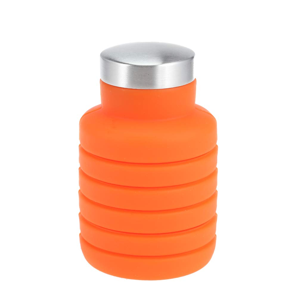 DeemoShop 500ML Portable Silicone Water Bottle Retractable Folding Coffee Bottle Outdoor Travel Drinking Collapsible Sport Drink Kettle by DeemoShop