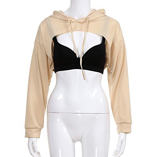Capuche Creux T Tops T Mode Sweat Capuche Femmes à à Shirt Kaki Shirt à Sweat Beikoard Hors Short La Femmes Shirt Mode pour wnxI7qnOY8