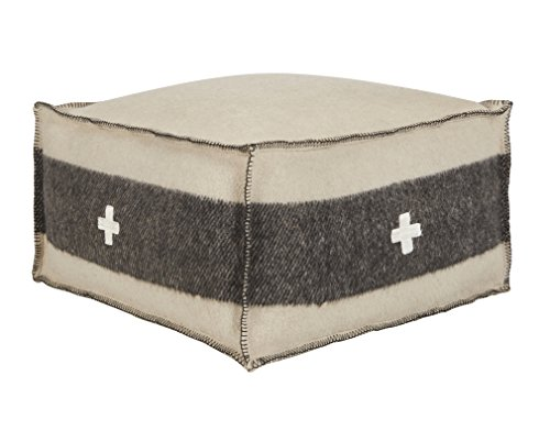 Swiss Army Pouf - Cream/Black by Bobo Intriguing Objects ()