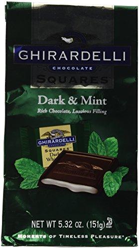 Ghirardelli Choc Sqr Drk Wht Mint, 5.32 oz