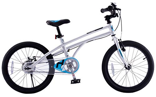 Royalbaby H2 Kids Bike, 14-16-18 inch Wheels, Gift for Boys and Girls (Silver/Blue, 18