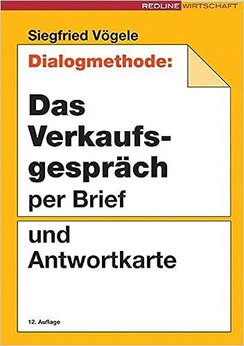 dialogmethode das verkaufsgesprch per brief und antwortkarte siegfried vgele amazonde bcher - Verkaufsgesprach Beispiel