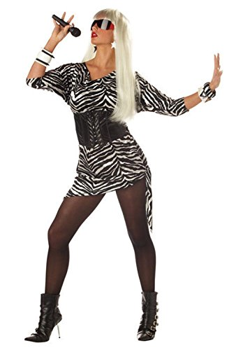 [Mememall Fashion Women Lady Gaga Video Vixen Star Music Singer Costume] (Deluxe Plush Cow Mascot Costumes)