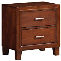 Glory Furniture G1200-N 2 Drawer Nightstand, Cherry