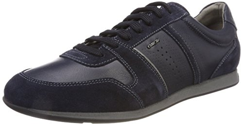 Mens Blue A Nappa Leather Clemet Shoes Geox Trainers 10 Casual U Rxfgwwpq