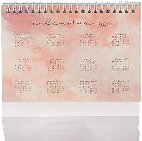 Vosarea 3Pcs Mini 2020 Calendar Paper Desk Calendar Table Schedule Calendars Office School Calendar