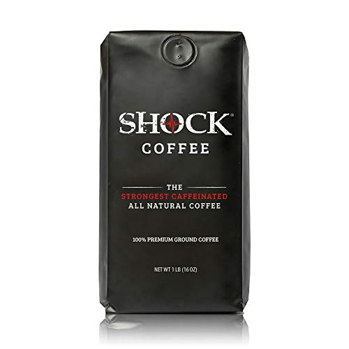 Foods Coffee General French - Shock Coffee, The Strongest Caffeinated All-Natural Coffee 100% Premium Ground, 16 oz.