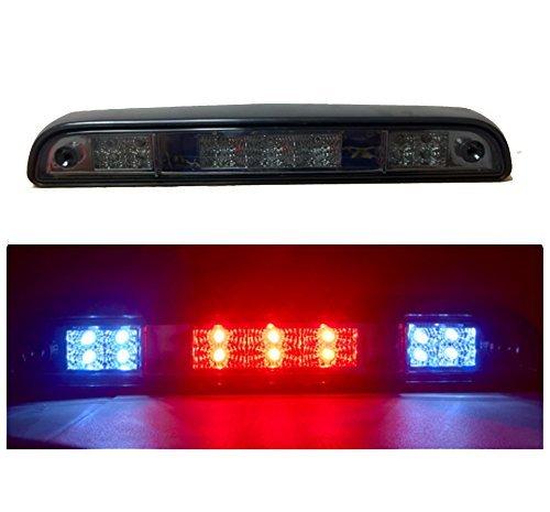 1993 Light (Gldifa 3rd Brake Light For 1992-1996 Ford F150/Bronco 1992-1997 F250/F350 Smoke Lens Tail Lamp)