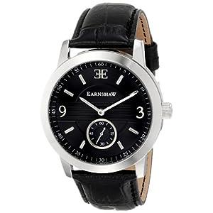 Thomas Earnshaw Men's ES-8022-01 Greenock Analog Display Japanese Quartz Black Watch