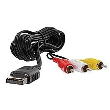 TYewa98556 1.8m Composite Audio Video TV Adapter AV Cable Cord for Sega Dreamcast Console
