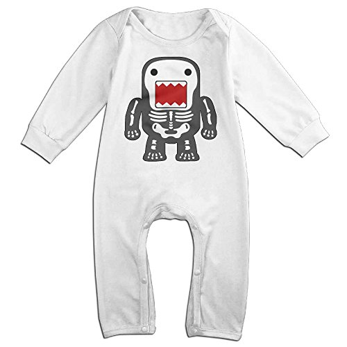 [Infant Baby's Funny Cool Domo-kun Skeleton Long Sleeve Climb Romper 24 Months White] (Domo Costume For Dogs)