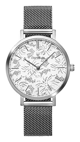ORPHELIA Lace OR12803 Women's Watch 36mm,Stainless Steel Silver Strap Japanese Quartz