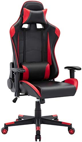 Furious Video Gaming Chair Racing Style Height Adjustment Ergonomic High Back Computer Game Chair Swivel Pu Leather Executive