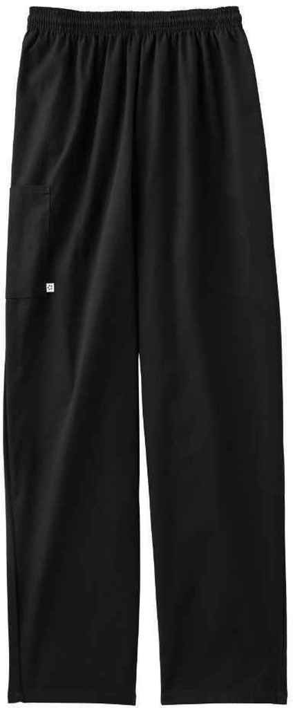 Five Star 18100 Unisex Pull-On Baggy Pant (Black, X-Large)
