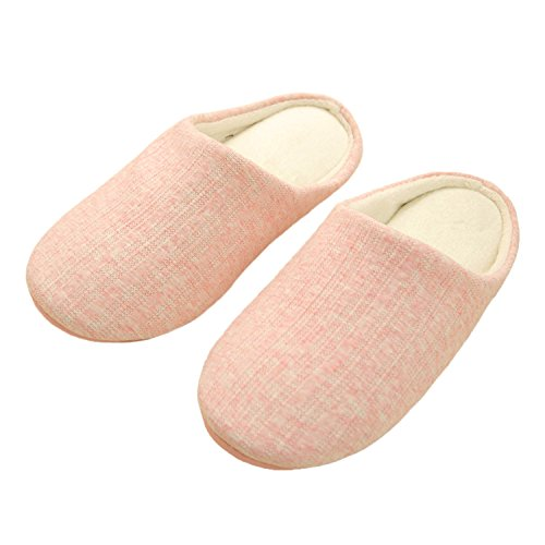 Home bestfur Fabrics Women Small Warm Soft Knitted Slippers Pink for Comfortable Size ZUwUqA0gx