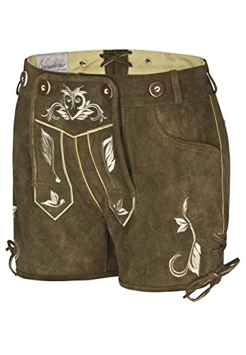Brown Women Pants pink Bavarian Lederhosen and Ladies leather Hotpants Beerfest brown Oktoberfest trouser aPCwx7qt