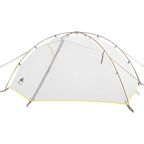 Bestwind weiß 3 Saison Zelt 15D Nylon Fabic Doppelschicht Wasserdichtes Zelt für 2 Personen