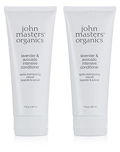 John Masters Organics Lavender & Avocado Intensive Conditioner (Pack of 2) with Certified Organic Aloe Vera Leaf Juice, Avocado Oil, Jojoba Seed Oil, Lavender Oil and Honeysuckle Extract, 7 fl. oz.