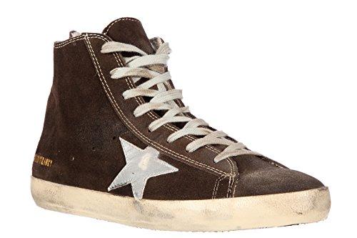 Golden Goose zapatos zapatillas de deporte largas hombres en ante nuevo francy m