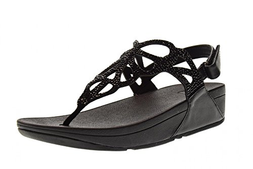 Back Strap Sandal - FitFlop Trade; Womens Bumble™ Crystal Back-Strap Sandals Black Size 5