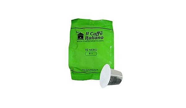 Il Caffè italiano 50 Nespresso Compatible Tea Capsules - Black Tea - 50 X Tea Capsules/Pods Espresso Compatible Nespresso - (10 Pack Of 5 For A Total Of 50 ...
