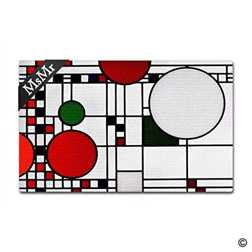 - MsMr Doormat Entrance Floor Mat Funny Door Mat Frank Lloyd Wright Coonley Non-Slip Doormat 23.6 inch by 15.7 inch Non-Woven Fabric