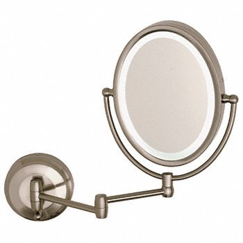 CRL Wall Mount Dual Arm Oval Mirror with LED Surround Light ZLEDW410 by CR Laurence