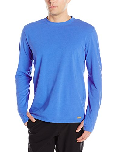 Solstice Apparel Men's Insect Repellent Long Sleeve Tee Shirt, Blue Streak, - Solstice Shades
