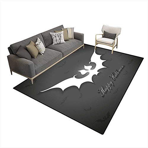 Kids Carpet Playmat Rug Halloween Bats Greetings Card -