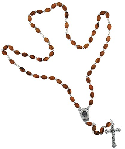 (Olive Wood Healing Rosary with Our Lady of Lourdes Water)