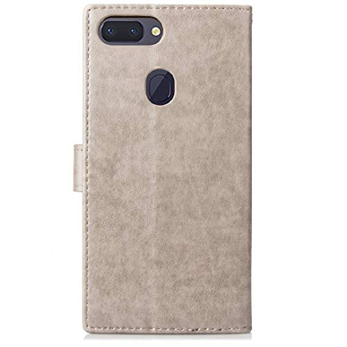 OPPO R11sPlus Wallet Stand Case, Knurling Flower Grass Cover[Hand ...