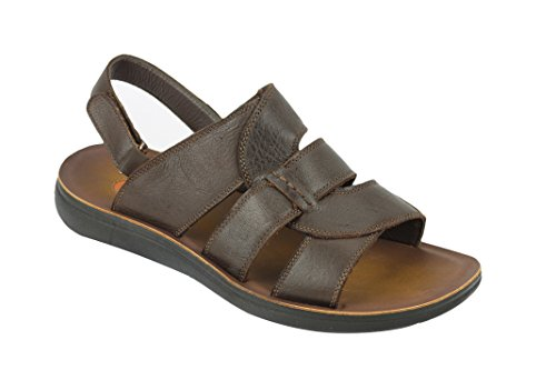 Xposed , Herren Sandalen Closed Back-Coffee