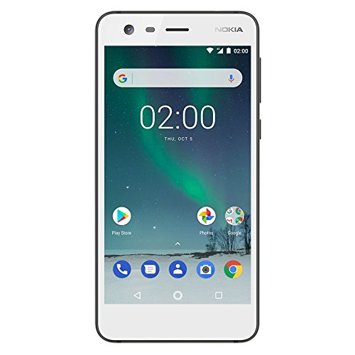 "Nokia 2 - Android - 8GB - Single SIM Unlocked Smartphone (AT&T/T-Mobile/MetroPCS/Cricket/H2O) - 5"" Screen - White - U.S. Warranty"