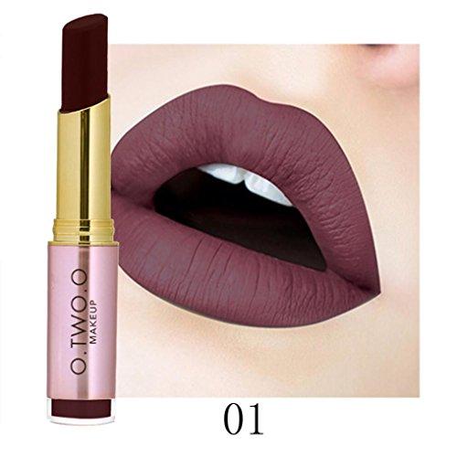 For Chritmas Gift for Women Girls,Sunfei Ladies Beauty Makeup Waterproof Sexy Lipstick Hydrating Long Lasting Lipstick (01#)
