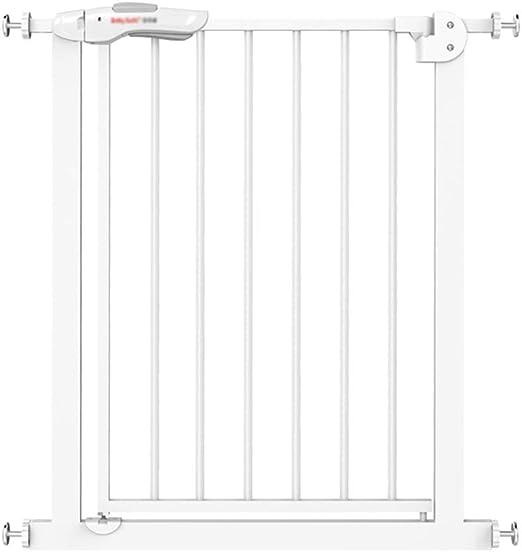 KSWD Metálica Barrera de Seguridad para niños, 82-90cm Niños Mascotas Bebé Puerta de la Escalera para Puertas Escaleras, Sin taladrar Extensible Blanco: Amazon.es: Hogar
