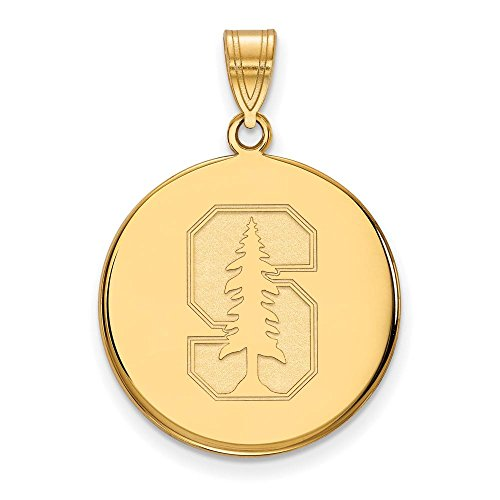 Stanford Large (3/4 Inch) Disc Pendant (10k Yellow Gold) by LogoArt