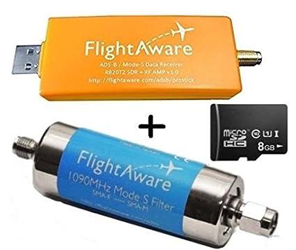 FlightAware Raspberry Pi + ADS-B PRO USB Stick + Band-pass