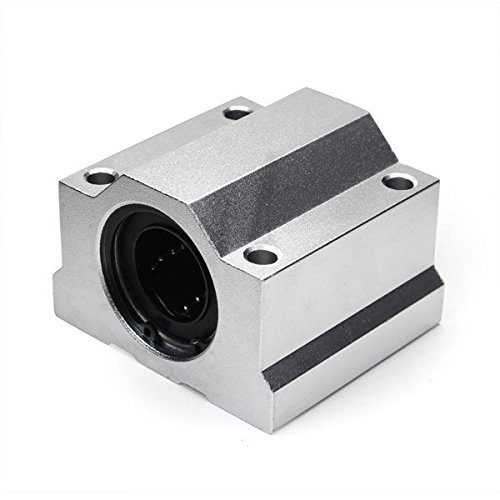 JT Tech SC25UU 25mm Linear Axis Ball Bearing Block Motion (25 Mm Bearing Block)