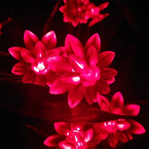 2/3/4/5M Novelty Lotus Holiday Decoration String Lights Festival Birthday Hotels Bars Decor. Lightings Lotus Led-Lamper Purple 2m 20lotus by BGFHDSD (Image #5)