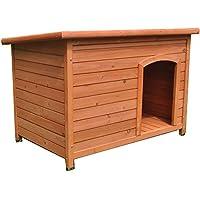 Large Wooden Dog House Dog Kennel Timber Pet Cabin Wood Log Box