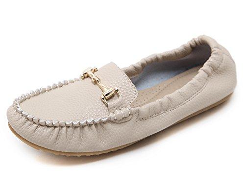D2c Beauty Dames Zomerslip Op Plat Rijdende Loafers Moeder Schoenen Abrikoos